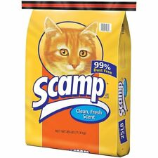 Scamp Cat Box Litter Filler Fresh Scent Dust Free Non clumping odor Control 25Lb