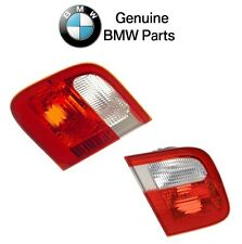BMW E46 Trunk Lid Taillight Tail Light Lamp Pair Set Of Left + Right OES