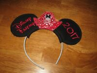 cute minnie mickey blink Purpl bowknot head band hair band hair fashion U05