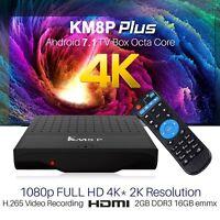 KM8P Smart Android 7.1 Nougat Octa Core 4K 3D Media Player TV BOX 2+16G UK STOCK