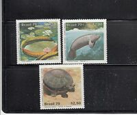 Brazil 1979 Manatee Turtle Sc 1613-1615  Complete  Mint Never Hinged