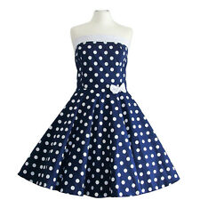 Rockabilly 50er Neckholder  Kleid Petticoat Pin Up Party Baumwolle S M 103-21