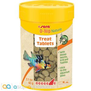 Sera O-Nip Nature Treat Tablets 100mL Stick to Aquarium Glass and Watch Fish Eat