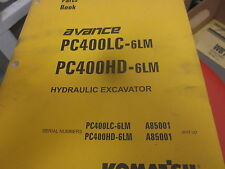 Komatsu PC400LC-6LM PC400HD-6LM Hydraulic Excavator Parts Book Manual
