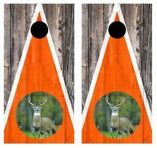 11 Point Buck Barnwood Cornhole Board Wraps Free Squeegee/Lamination #2846
