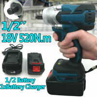 """18V 1/2"""" 520Nm Brushless Impact Wrench Replacement For Makita DTW285Z + Battery"""