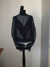 Allesandro dell Acquwa Elegante Bluse Seidenbluse Spitze Gr.36 -38 Neu NP480 €