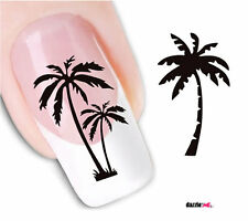 Nail Art Sticker Water Decals Transfer Stickers Palm Trees B&W (DX1564)