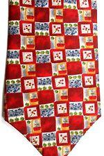 """Burma Bibas Men's Silk Tie 57.5"""" X 4"""" Multiple Color Geometric"""