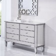 MIRRORED LIVING DINING ROOM BEDROOM BATHROOM OFFICE FOYER CABINET DRESSER DRAWER