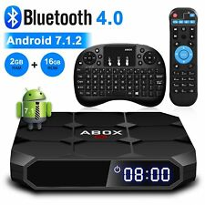 ABOX Android TV BOX 2G+16G 4K 3D Quad Core Bluetooth Wifi With Mini Keyboard