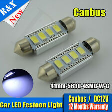 4x 4SMD 41mm C10W 264 Canbus LED Car Interior Bulbs Festoon Light WHITE DC12V
