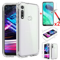 For Motorola Moto G Fast Case Shockproof Clear Slim TPU Cover+Screen Protector