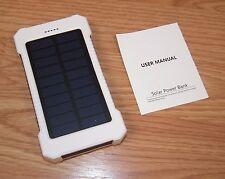Portable Waterproof Multi-Functional 10000mAh Dual-USB Solar Power Bank **READ**