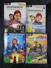 PC DVD Geheimakte Teil 1, 2, 3 und Lost Horizont in OVP