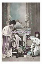 rp00729 - Children - Young Girls with their dolls - photograph