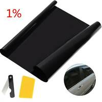 Car Window Tint 1% Dark Smoke Black Sunshade Film Auto Glass Stickers