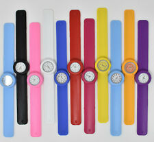 Kids childs children's Snap on Slap Wacky Watch party gift ladies Strap Band toy