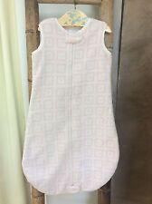 Swaddle Designs zzZipMe Sack 6-12 mo PINK CHECK MINKIE Baby Sleep Bag SOFT COZY