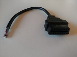 16 Pin J1962 OBD2 OBDII OBD Female Connector Diagnostic Cable Plug VEHICLE SIDE