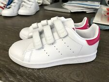Adidas Girls Stan Smith Iconic Classic Athletic Sneakers NEW Size 1 White & Pink