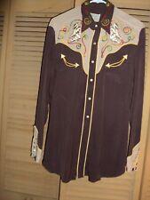 Vintage H Bar C California Ranchwear Western Embroidered Shirt Medium F10