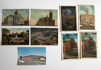LOT OF 9 SYRACUSE  NEW YORK NY ANTIQUE  POSTCARDS CROUSE COLLEGE-  AIRPORT