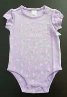 BNWT Baby Girls 00 Cute Mix Brand Lavender Floral Short Sleeve Romper Suit
