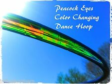 Custom Peacock Green Scarab Morph Color Changing Dance Hula Hoop