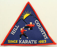 Martial Arts Embroidered Uniform Patch Hill Country Karate Since 1983 Msrd