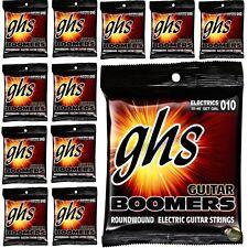12-Pack GHS Electric Boomers GBL Light Nickel-Plated Steel Guitar Strings 10-46