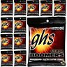 12-Pack GHS Electric Boomers GBL Light Nickel-Plated Steel Guitar Strings 10-46