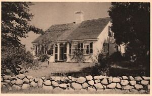 Vintage Postcard 1920's The American Scene Provincetown & Cape Cod House MA