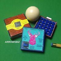 Original Elkmaster Snooker Pool Billiard Cue Tips 9 10 11 12 13 14mm UK Seller