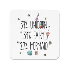 39% Unicorn 34% Fairy 27% Mermaid Fridge Magnet - Funny