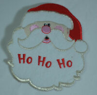 FATHER CHRISTMAS SANTA CLAUS Embroidered Iron Sew On Cloth Patch Badge APPLIQUE