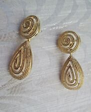 AVON VINTAGE*WOVEN ELEGANCE COLLECTION EARRINGS W/SURGICAL STEEL POST*1992*NIB*