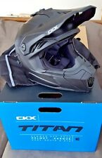 NIB New CKX TITAN Summer Off Road Modular Helmet Black Mat Solid Large