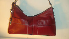 #3] FOSSIL  CHERRY RED   ALL LEATHER   EMILY SHOULDER BAG
