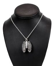 Rib Cage Gothic Steampunk Necklace Pendant Punk Goth Cyber Rave