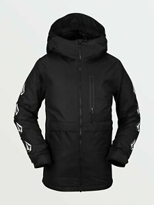 2021 NWT BOYS VOLCOM HOLBECK INSULATED JACKET $160 M Black standard fit 2 layer