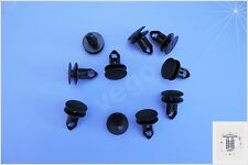20x Clips de fijación parachoques clips OPEL RENAULT Negro 93198738