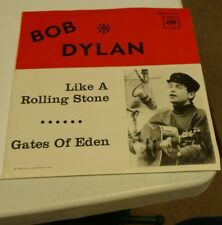 """Bob Dylan Like a Rolling Stone 45 rpm record  7"""" Sweden Import 1965 RARE PS"""