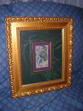 CROWN FINE ARTS BEAUTIFUL GOLD PICTURE FRAME AND PRINT BY CAROLINA MIRROR CO.