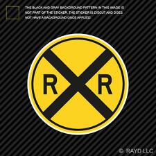"4"" Railroad Crossing Road Sign Sticker Decal Self Adhesive Vinyl"
