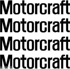 4  MOTORCRAFT LOGO STICKERS GRAPHICS DECALS ANY COLOUR VW CLIO GOLF SAXO