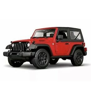 Maisto 1:18 2014 Jeep Wrangler Red Diecast Model Car Vehicle NEW IN BOX Gift