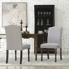 Modern Parson Chairs Set of (2pc) Seat Cushion High Back w/ Wooden Legs, Gary