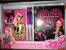 New Jojo Siwa Diary Journal Notebook 2 PC 2 Glitter Pens Dance It Out Be A Star