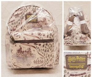 Loungefly Harry Potter School Grounds Hogwarts Mini Backpack Map Pattern NWT New